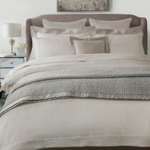 Hotel Taupe Pintuck 300 Thread Count Duvet Cover