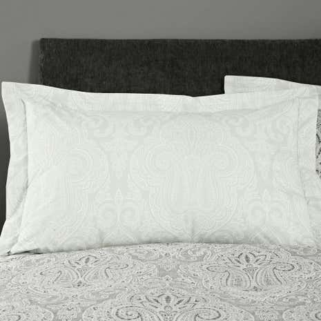India Grey Oxford Pillowcase