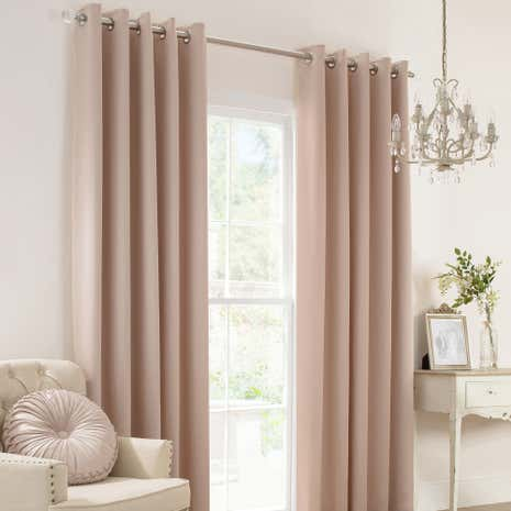 Karissa Champagne Thermal Eyelet Curtains