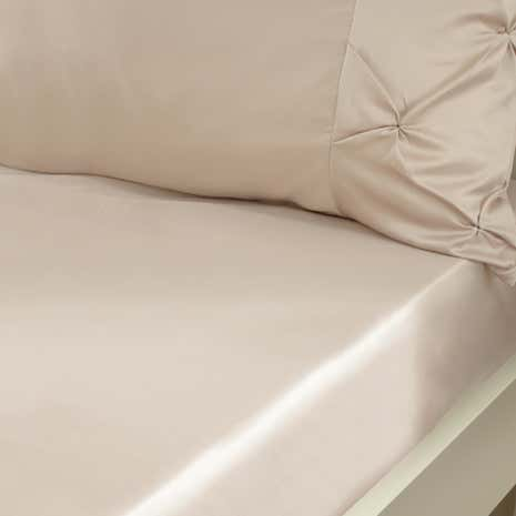Karissa Champagne 25cm Fitted Sheet