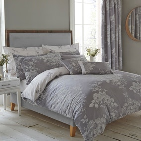 Laura Grey Jacquard Duvet Cover