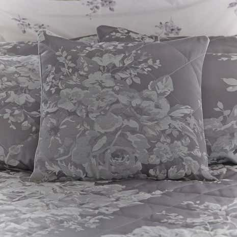 Laura Grey Jacquard Square Cushion