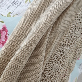 Melody Beige Throw