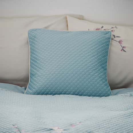 Misaki Duck Egg Square Cushion