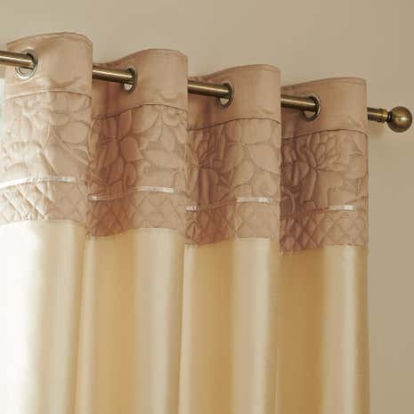 Thea Natural Eyelet Curtains