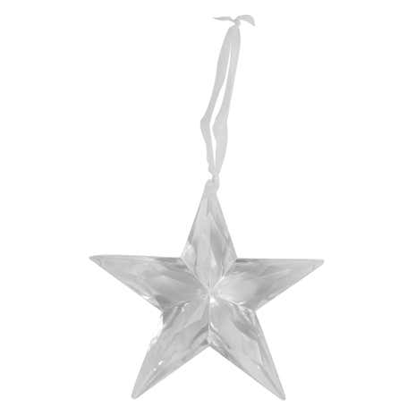 Clear Acrylic Hanging Star