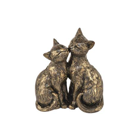 Bronze Kissing Cats Ornament