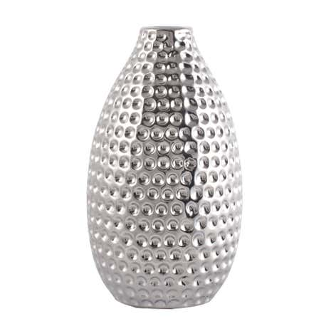 Silver Dimpled Bud Vase