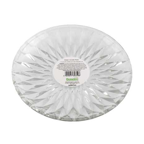 Clear Glass Candle Plate