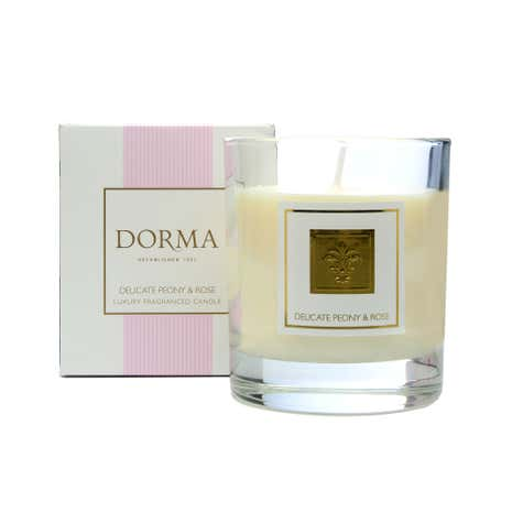 Dorma Peony and Rose Wax Filled Glass Candle