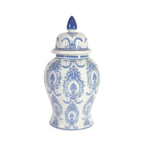 Dorma Blue Toile Ceramic Ginger Jar