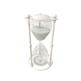 Dorma Cream Hourglass in Stand