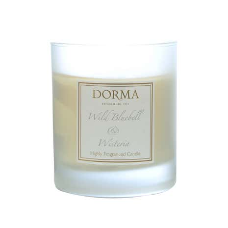 Dorma Wild Bluebell and Wisteria Wax Filled Glass Candle
