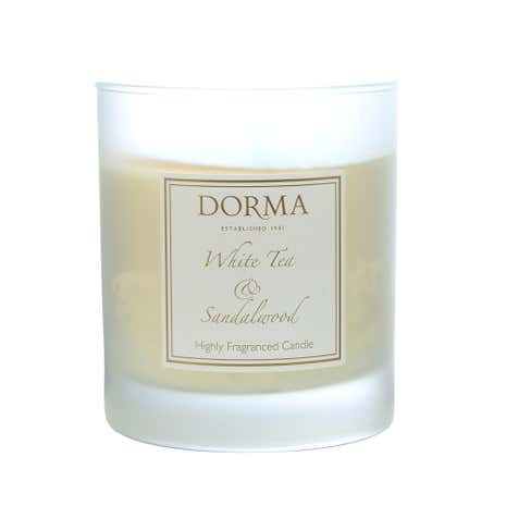 Dorma White Tea and Sandalwood Wax Filled Glass Candle