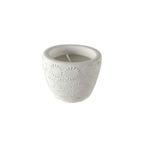 Embossed Flower Candle