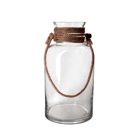 Oversized Glass Jar with Rope