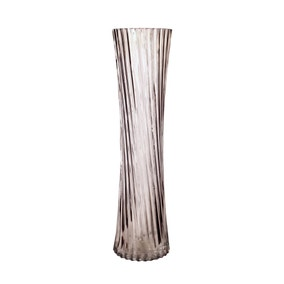 Glass Ribbed Vase