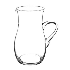 Clear Glass Handmade Jug