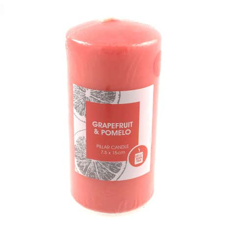 Grapefruit and Pomelo Pillar Candle