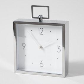 Hotel Metal Mantel Clock