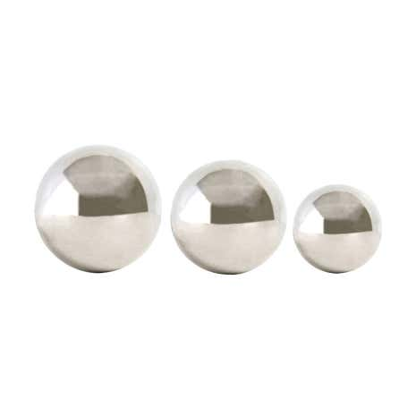 Hotel Set of Three Silver Spheres