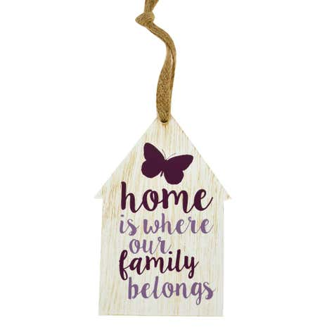 House Shape Hanging Plaque