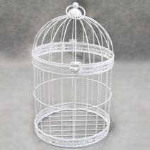 White Decorative Birdcage