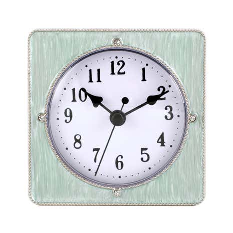 Duck Egg Pastel Metal Clock