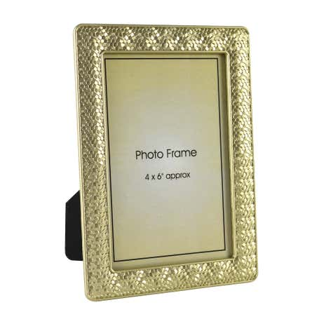 Champagne Faceted Photo Frame