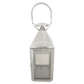 Chrome Metal Lantern