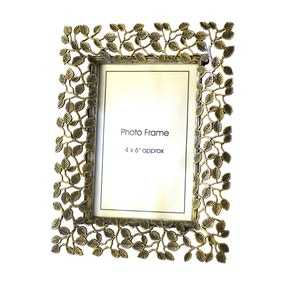 Bronze Metal Leaf Photo Frame