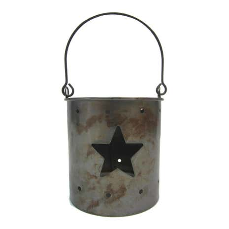 Silver Metal Star Cut Out Tealight Holder