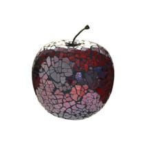 Mosaic Glass Apple Ornament