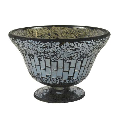 Black Mosaic Glass Bowl