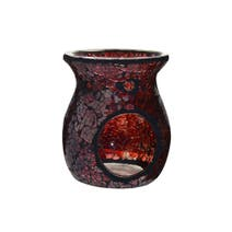 Red Mosaic Glass Oil Burner