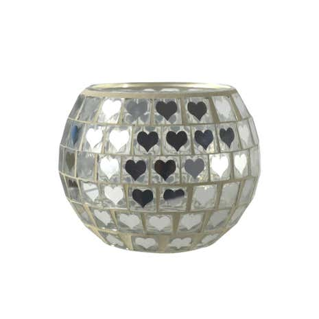 Mosaic Glass Tealight Holder