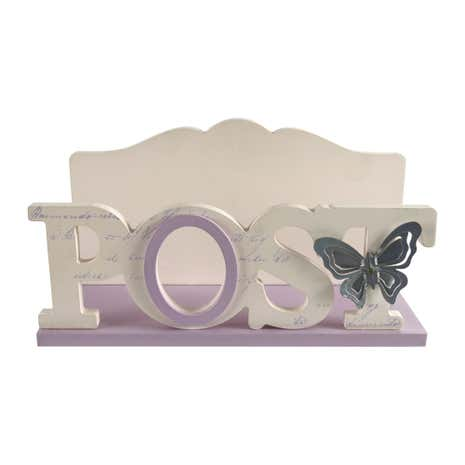 Mauve Post Rack with Metal Butterfly
