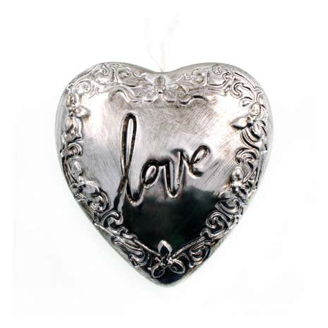 Silver Love Hanging Heart
