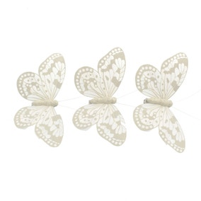 Set of 3 Butterfly Clips