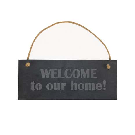 Welcome Slate Hanging Sign