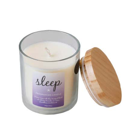 Lavender and Sandalwood Scented Candle with Lid