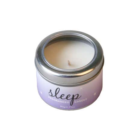 Lavender and Sandalwood Scented Candle Tin