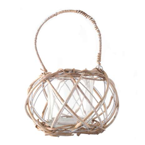 Woven Wicker Tealight Holder