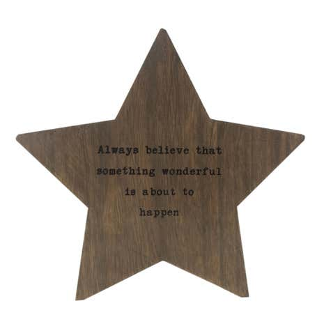 Wooden Standing Star Plaque