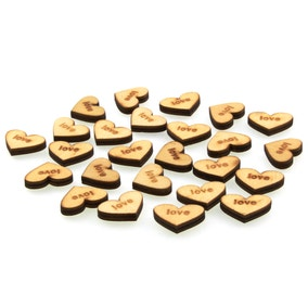 Wooden Heart Shape Table Scatters