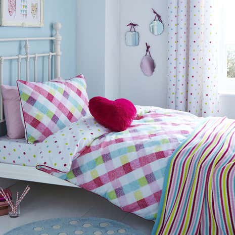 Amelia Check Duvet Cover Set