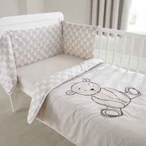 Archie Bear Nursery Coverlet and Bumper Set