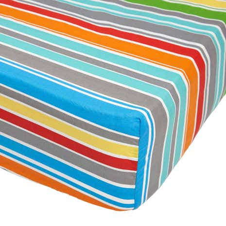 Monkeying Around Multi Coloured 25cm Fitted Sheet