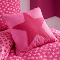 Ditsy Star Pink Square Cushion