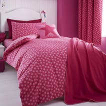 Kids Pink Ditsy Star Quilt Cover Set
